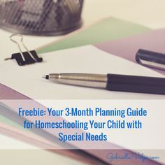 Freebie: Your Planning Guide for Homeschooling Your Child with Special Needs Learning Resources, Kids Learning, Academic Goals, Reflection Questions, Gross Motor Skills, Communication Skills, Special Needs, Homeschooling, Free Printables