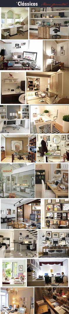 Office / home office / decor / decoração / interior design / modern  / fashion / classic / clean and chic