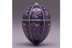 Twelve Monogram Easter Egg - Authentic Faberge Egg From the Hillwood Collection