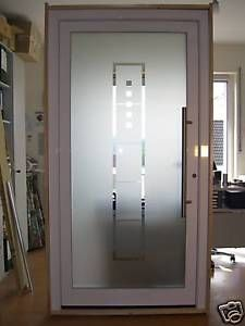 Haustür glas satiniert  Aluminium Haustür Ganzglasfüllung Alu Haustüren nach Maß Mod. HT ...