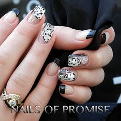 Rock around the clock at #nailsofpromise in #gantshill We were inspired to do this #nailart from an image by Di Nails - Unghii False Bucuresti