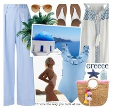 """""""Beach please ! *Top set ! *"""" by euafyl ❤ liked on Polyvore featuring Erika Cavallini Semi-Couture, Tory Burch, FitFlop, Billabong, Fendi, philosophy, JADEtribe, hot, Greece and BeachPlease"""