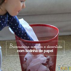 Já experimentou brincar de bolinha de papel com seus pequenos?