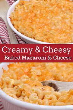 Creamy Baked Macaroni and Cheese by Divas Can Cook Creamy Baked Macaroni And Cheese Recipe, Mac Cheese Recipes, Baked Cheese, Rice Recipes, Chicken Recipes, Recipies, Casserole Dishes, Casserole Recipes, Cornbread Casserole