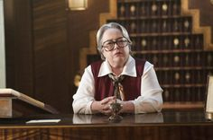 Pin for Later: 80 Gorgeous Pictures From Hotel, American Horror Story's Spookiest Season Yet  Kathy Bates as Iris in the premiere.