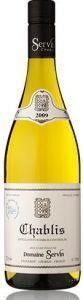 Chablis Aoc. 2009 - Domaine Servin - vino ideale da abbinare ad antipasti, ostriche, lumache e frutti di mare.