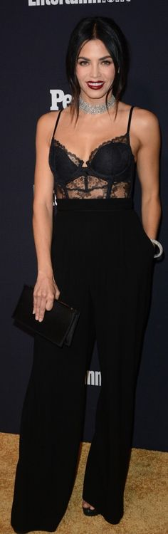 Who made Jenna Dewan Tatum's lace top and black pants?