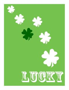 Perfect for decorating for St. Patricks Day. Print out this FREE Lucky printable and pop it in a frame or on a clipboard. Such an easy and inexpensive way to decorate.
