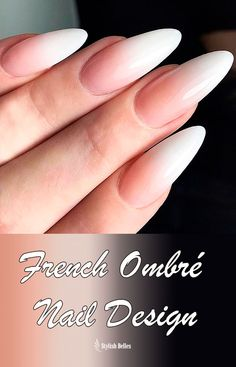Here are stunning french manicure ideas between classic and modern french manicure designs like gel french manicure, reverse french manicure and more! French Stiletto Nails, Gel French Manicure, French Tip Nails, Ombre Nail Designs, Fall Nail Designs, Hair And Nails, My Nails, Finger, Chevron Nails