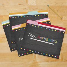 chalkboard - file folders