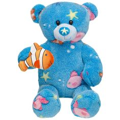 New Build a Bear Deep Sea Aqua Blue Teddy Nemo Clownfish Stuffed Plush Toy Build A Bear Shop, Teddy Bear Online, Boyds Bears, Teddy Bears, Baby Bears, Custom Teddy Bear, Pokemon Plush, Fish Crafts, Deep Blue Sea