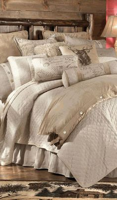 Such a pretty theme Master Bed Room Fairfield Rustic Bedding. Such a pretty theme Master Bed Room Fairfield Rustic Bedding. Such a pretty theme Cozy Bedroom, Dream Bedroom, Master Bedroom, Bedroom Decor, Bedroom Ideas, Bedroom Bed, Bedroom Rustic, Design Bedroom, Suites
