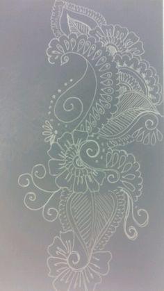 Henna Art Embroidery Patterns, Hand Embroidery, Sewing Patterns, Leather Engraving, Motif Design, Henna Art, Henna Designs, Blackwork, Needlework