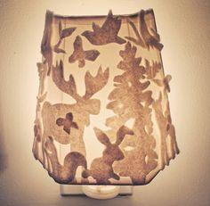 Nursery light, woodland night light, felt, forest animal the Girl Nursery Themes, Baby Boy Nurseries, Nursery Decor, Woodland Theme, Woodland Nursery, Fairy Nursery, Nursery Lighting, Yellow Nursery, Nursery Modern