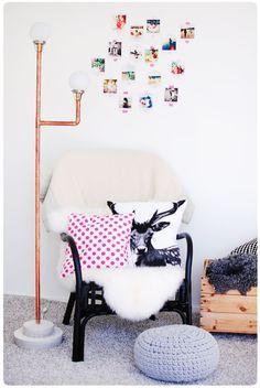Pastill.nu - nyföddfotograf och barnfotograf Stockholm - Järfälla: Lampa av kopparrör