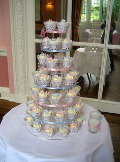 Christening cupcakes tower