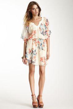 98 Gypsy05 Silk Floral Mini Dress.