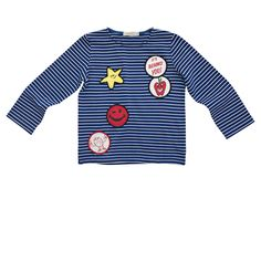 Stella Mccartney Kids - POW BADGES T SHIRT - Shop at the official Online Store 6 or 8