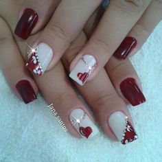 In search for some nail designs and some ideas for your nails? Listed here is our listing of must-try coffin acrylic nails for cool women. Heart Nail Designs, Valentine's Day Nail Designs, Acrylic Nail Designs, Acrylic Nails, Valentine Nail Art, Finger Nail Art, Heart Nails, Nail Decorations, Gel Nail Art