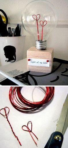 DIY Valentines Lightbulb.