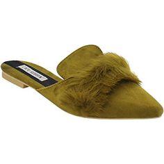 Cape Robbin Fine Women's Slip On Backless Flat Heel Mule Sandals