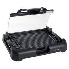 nice Secura GR-1503XL 1700W Electric Reversible 2 in 1 Grill Griddle w/ Glass Lid