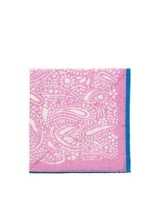 PENROSE LONDONPrinted cotton-silk pocket square