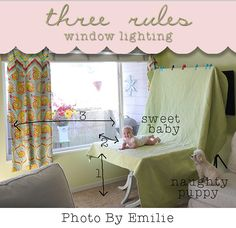 """How to shoot with Window Light by """"Photos by Emilie"""" 