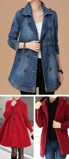 coat, winter coat, coat for women, coat trench, fall coat, coat outfit, coat outfits, rain coat, free shipping worldwide at Rosewe.com. #coat