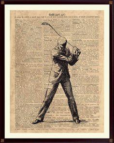 Golfer Print, Golf Decor, Gift For Golfer, Golf Poster, Golf Art, Sports Poster…