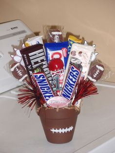 """The post """"Made this for a football player on Homecoming!"""" appeared first on Pink Unicorn Senior gifts Football Player Gifts, Football Players, Football Season, Football Coaches, Football Moms, Youth Football, Alabama Football, American Football, College Football"""