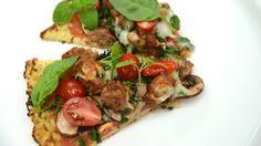 Chef Richard's Turkey Sausage Pizza on a Cauliflower Crust