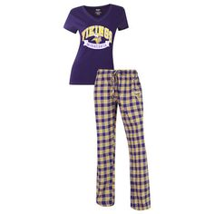 05ce7fbccd76 Minnesota Vikings Concepts Sport Women's Medalist Pant & T-Shirt Pajama Set  - Purple. Vikings Football ...