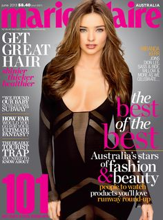 The June 2013 issue of marie claire Australia with Miranda Kerr on the cover