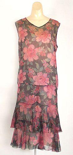 1920's basic floral print dress