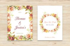 Check out Floral Save The Date by Inspirationfeed on Creative Market