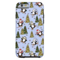 Shop Christmas penguin iPhone 6 tough case created by DoodlesHolidayGifts. Iphone 5c Cases, Iphone 6 Plus Case, Iphone 7, Ipad Case, 6 Case, Penguin, Pattern, Christmas, Watch Bands
