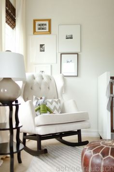 Side table // lamp // photo montage