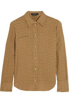 Isabel Marant Dully checked linen and cotton-blend shirt   THE OUTNET