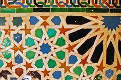Full_alhambra-tile in Granada, Spain