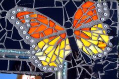 butterfly mosaic close-up