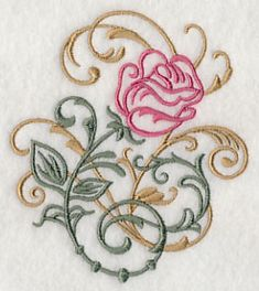 Rose Filigree design (H5587) from www.Emblibrary.com