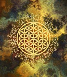 Flower Of Life (Batik Duvet Cover by Mandala Of Life - Queen: x Sacred Geometry Art, Sacred Art, Mandala Art, Visionary Art, Psychedelic Art, Fractal Art, Art Prints, Magick, Artwork