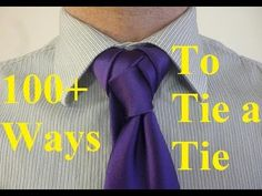 How to Tie a Tie Fusion Knot for Your Necktie - YouTube