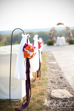 Floral wedding aisle accessories | AnnaBelle Events