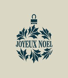 Boule de Noël. Décoration de Noël. Pochoir en vinyle adhésif (ref 176) : Décoration d'intérieur par larabesque