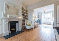 terraced house living room fire place designs - Google Search