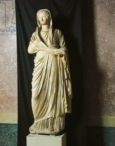 Statue representing Julia Augusta Agrippina also known as Agrippina Minor, wife of Emperor Claudius and mother of Emperor Nero, Julio-Claudi...