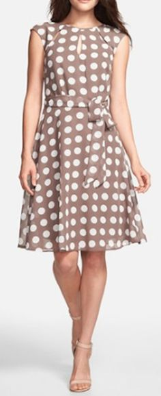 polka dot fit and flare dress  http://rstyle.me/n/nig4epdpe