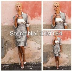Online Shop WZ1142 Customize Tea Length Vintage Mother Of The Bride Dress With Jackets Free Shipping Aliexpress Mobile